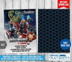 avengers party invitations printable free avengers birthday invitation 2 by templatemansion on deviantart