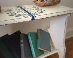 Bookcase Bench Farmhouse Bench Etsy