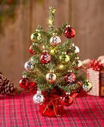 tabletop christmas tree mini tabletop christmas tree set the lakeside collection