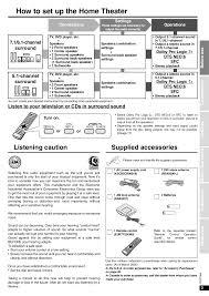 panasonic receivers home theater pdf manual for panasonic receiver sa xr58