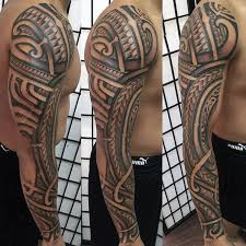 polynesian tribal arm tattoos pictures to pin on pinterest