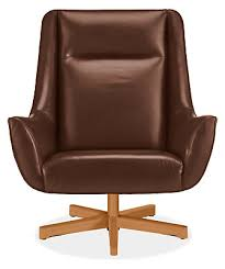 Wood Ottoman Charles Leather Swivel Chair Ottoman With Wood Base Modern
