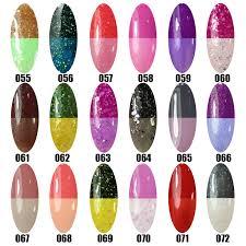 lot 6pcs temperature change color uv gel polish nail art