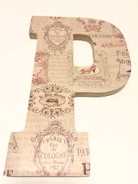 Home Decor Paris Theme Paris Room Decor Letter P Home Wall Hanging Handmade Paris