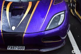 koenigsegg purple koenigsegg agera r zijin 22 july 2017 autogespot