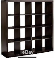 Vinyl Record Bookcase Record Storage Shelf Rack Holder Rustic 16 Cube Unit Organize Espresso