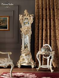 grandfather s clock classic living room with grandfather clock painted and carved by
