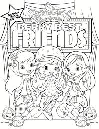 fun strawberry shortcake coloring pages girls 09418
