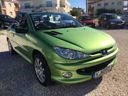 peugeot green peugeot 206 cabriolet 1 6 automatic david mitchell u0027s motor store
