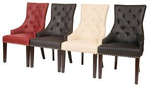 Rustic Leather Dining Chairs by Leather Dining Chairs Equisite Interior Furniture With White