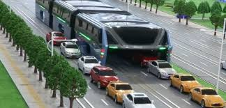 concept bus chinese traffic straddling bus concept stopped in its tracks aol