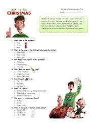 english worksheets arthur christmas