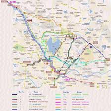 Twin Cities Map Major Bus Routes Of Tsrtc In Twin Cities Hyderabad India Online