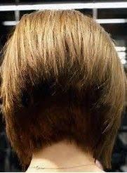 wedge haircuts front and back views back view of 45 degree short wedge bob haircut