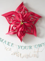 How To Make Homemade Ornaments by Make A Paper Snowflake Star Christmas Ornament Hgtv