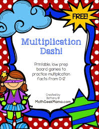 print and play multiplication board games free