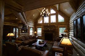 Lodge Interior Design by Ten Lakes Lodge Meadowlark Log Homes
