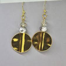 gold disc earrings shop gold disc drop earrings on wanelo
