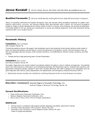Paramedic Resume Sample by Sample Resume Driver S License Virtren Com