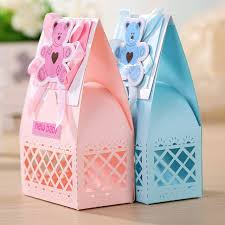 baptism favor boxes aliexpress buy pink and blue baby favors boxes baptism