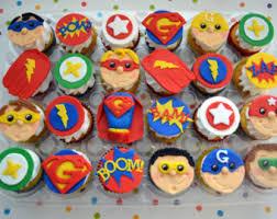 fondant cupcake topper superhero etsy