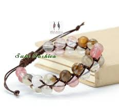 bracelet natural stones images 2018 wholesale high quality new natural stone with crystal leather jpg