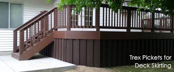 deck skirting affordable hardwood deck with unique skirting