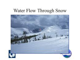 water flow through snow least understood aspect of snow hydrology