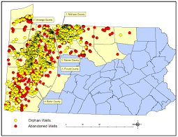 Pennsylvania Map With Counties by Legacy Of The Past Over 7 000 Abandoned And Or Orphan Oil U0026 Gas