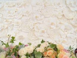 wedding backdrop of flowers client wedding beautiful paper flower backdrop fanciful designs