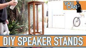 Bookshelf Speaker Stands India How To Make Timber Speaker Stands Strong And Sturdy Youtube