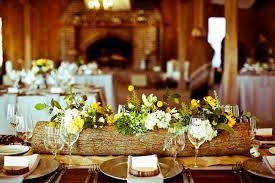wood log vases boone plantation wedding with log centerpieces