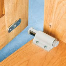 touch latch cabinet hardware single door magnetic touch latch select color rockler woodworking