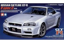 nissan skyline r34 specs 1 24 skyline gt r r34 v spec ii grand prix models