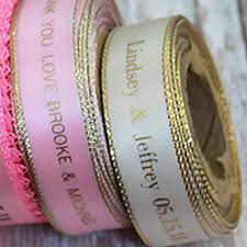 printed ribbons for favors weddings