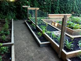 how to build a raised garden bed from pallets home outdoor