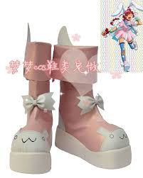 nurse witch komugi cosplay shoes halloween pink boots shoes