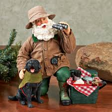 clothtique santa the great outdoors clothtique santa figurine set
