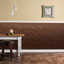 Fasade Dunes Vertical  X  PVC Backsplash Panel In OilRubbed - Backsplash panel