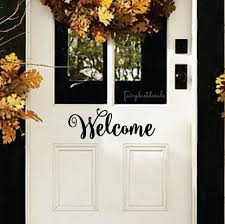 Letters For Home Decor Welcome Front Door Decal Fun Script Style Vinyl Letters For