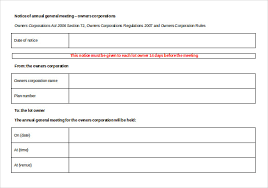 notice of meeting u2013 26 free word excel ppt pdf documents