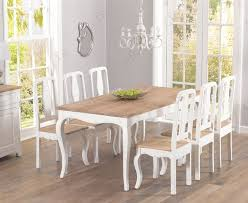buy mark harris sienna shabby chic 175cm dining set with 8 dining