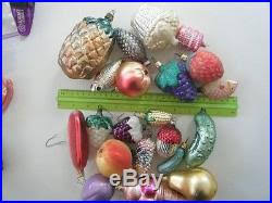 italian blown glass ornaments various assorted