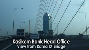 Office View by Kasikorn Bank Head Office In Bangkok View From Rama Ix Bridge