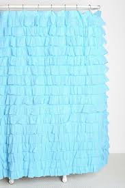 Teal Ruffle Shower Curtain by Waterfall Ruffle Shower Curtain How To Convert Ruffled Shower