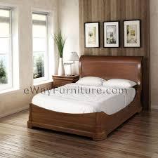 Platform Sleigh Bed Solid Mahogany Platform Sleigh Bedroom Set
