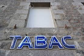 bureau de tabac banque français signe tabac neon à façade d un bureau de tabac banque d
