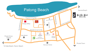 Phuket Map Location And Map Sea Sun Sand Resort U0026 Spa Patong Beach Hotel