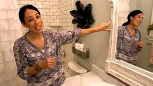 small bathroom ideas hgtv fixer upper visually enlarge a small bathroom youtube