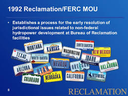 federal bureau of reclamation non federal development at reclamation facilities ppt